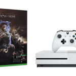 Consola Microsoft Xbox One Slim 500Gb Alb Joc Shadow Of War